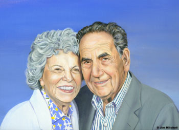 Ruth & Gene Posner by Jim Mitchell